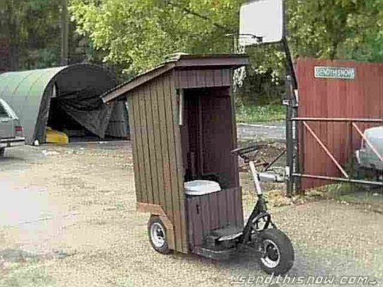 redneck outhouse